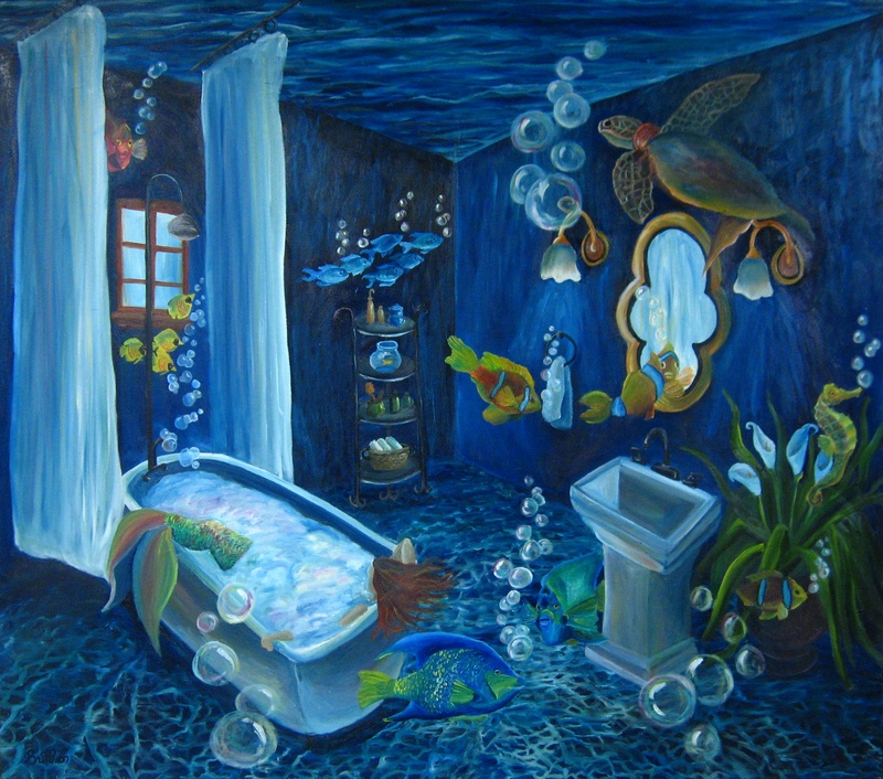 Ocean Floor Bathroom